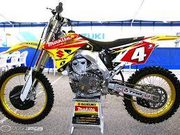rc motocross bike behind ricky carmichael u0027s rm z450 photos motorcycle usa