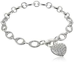 sterling silver pave cubic zirconia charm