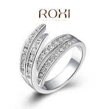 simple platinum rings images Roxi simple style of the white gold ring platinum plated with jpg