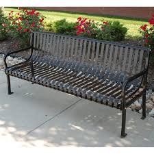 jayhawk plastics aspen 6 ft steel commercial park bench hayneedle