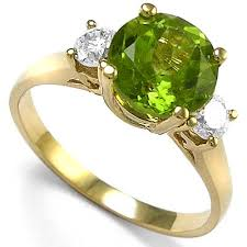 peridot engagement rings anzor jewelry 14k yellow gold peridot diamond engagement ring