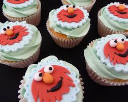 sesame cake toppers elmo cupcake toppers etsy studio