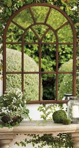 outdoor decorations garden window frame mirror beautiful garden