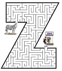 free printable maze for kids uppercase letter z