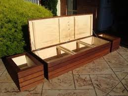 large wood outdoor storage bench modern large deck box