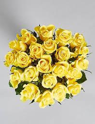 fairtrade yellow roses m s