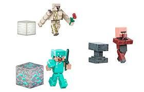 diamond steve minecraft overworld series 2 figure bundle diamond steve