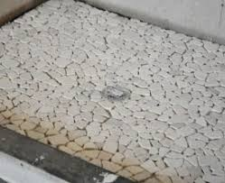 pebble shower floors for tiled showers howto install small pebble