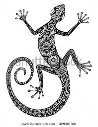 gecko tattoo stock images royalty free images u0026 vectors