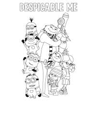 despicable me coloring pages the family cartoon coloring pages