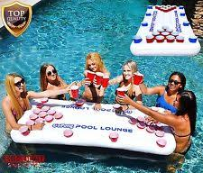Pool Beer Pong Table by Inflatable Beer Pong Table Floating Blow Up Swimming Pool Game