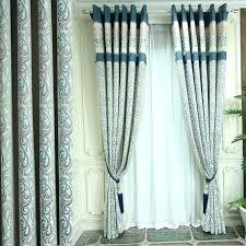 Vintage Eyelet Curtains Teal Woven Ribbon Stripe Eyelet Curtains Vintage Striped Jacquard