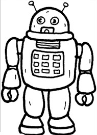 robot coloring pages kids robots outer space