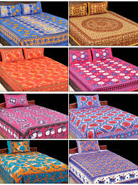 buy utsav collection 4 double 4 single bed sheets with 12 pillow