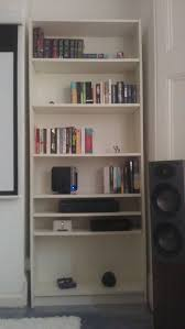billy bookcase corner unit billy bookcase hi fi integration ikea hackers ikea hackers