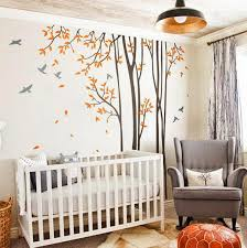 Brown Tree Wall Decal Nursery Birds Trees Forest Wall Arts Nursery Decals Baby Decor