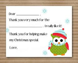 christmas thank you cards printable instant printable kids fill in christmas thank