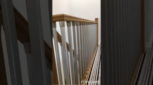 Fitting Banister Spindles Solution Oak Stairs With Brushed Nickel Spindles Youtube
