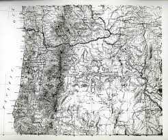 Map Of Southern Oregon by Cascade Mountain Range In Oregon