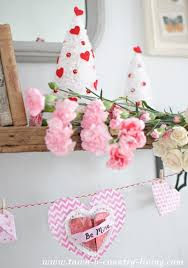 Valentine S Day Country Decor by How To Make Valentine Bottle Brush Trees Town U0026 Country Living