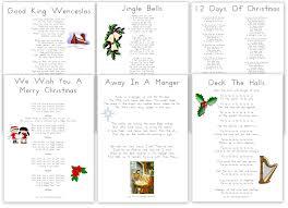 free printable christmas carols and songs