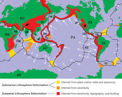 Plate Boundaries Map Comparison Of The Idealized Rigid Plate Boundaries