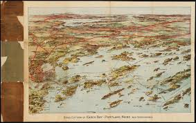 Map Of Portland Me by File Birds Eye View Of Casco Bay Portland Maine And