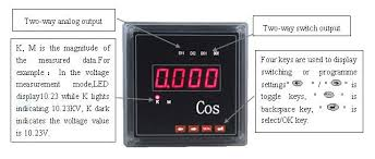 energy management system used digital panel power factor meter cos