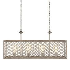 home decorators collection 4 light gilded pewter linear chandelier