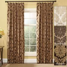 Curtain Pair Darby Damask Pinch Pleat Curtain Pair Drapes