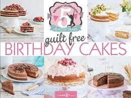 ten healthy birthday cakes