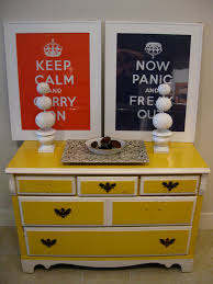 Entryway Table With Drawers Eye Catching Yellow Finished Dresser Entryway Table With Multi