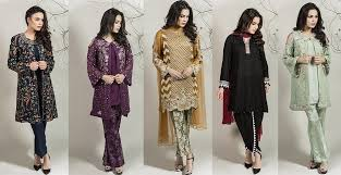 winter party wear dresses by maria b stitched collection 2017 2018