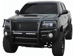 tacoma grill light bar aries pro series grille guard with plates for led light bars