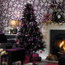 Gothic Style Home 20 Black Christmas Tree With Gothic Style Home Design And Interior