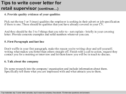 ideas of retail supervisor cover letter examples on format layout