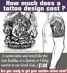 how much does a tattoo design cost buddha tattoo juno tattoo