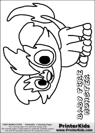 cute monster coloring free download