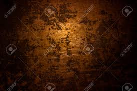 dark old scary rusty rough golden and copper metal surface texture