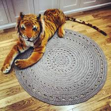 amazing black white crochet yarn rug cotton material soft and full size of decoration gray crochet rug round shape cotton yarn material soft texture handmade