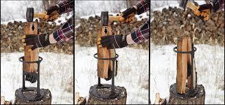 kindling cracker lets you split wood with a hammer