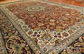 Arabesque Rugs Red Isfahan Oriental Carpet Silk On Silk Classic Rug Handknotted