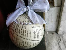 Home Accents Christmas Decorations by Christmas Ornaments Teacher Gifts The Great Gatsby Handmade