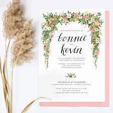 wedding invitations floral floral wedding invitations reduxsquad