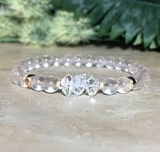 quartz diamond bracelet images Womens herkimer diamond bracelet 6mm madagascar rose jpg