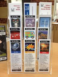 awesome bookmark stand helena college senior library