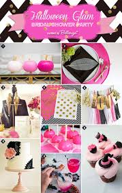 Halloween Wedding Shower Decorations by Chic Halloween Glam Bridal Shower In Pink And Black Unique