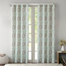 Aqua And Grey Curtains Buy Aqua Curtain Panels From Bed Bath Beyond