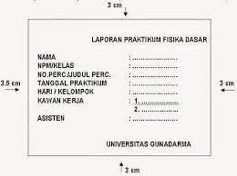 format laporan praktikum reza renaldi cara membuat laporan praktikum fisika dasar