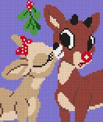 clarice rudolph red nosed reindeer perler perler bead